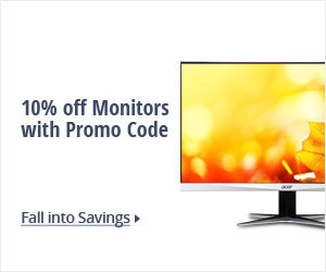 10% off Select Monitors