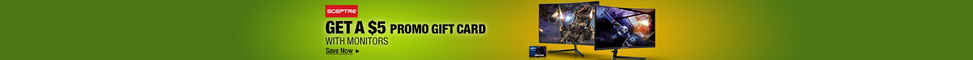 GET A $5 PROMO GIFT CARD