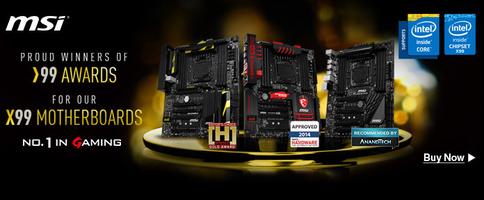 X99 Motherboards - Proud Winners of 99 Awards