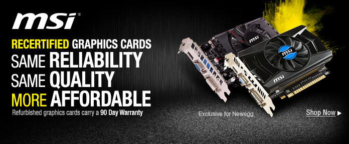 RECERTIFIED GRAPHICS CARDS