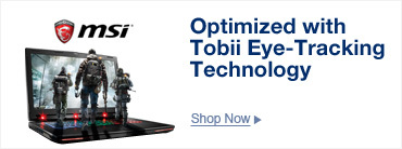 Optimized with Tobii Eye-Tracking Technology