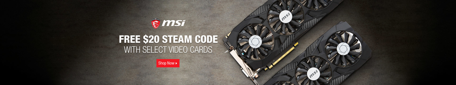 Free $20 steam code with select video cards