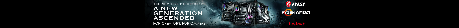 THE NEW X570 MOTHERBOARD