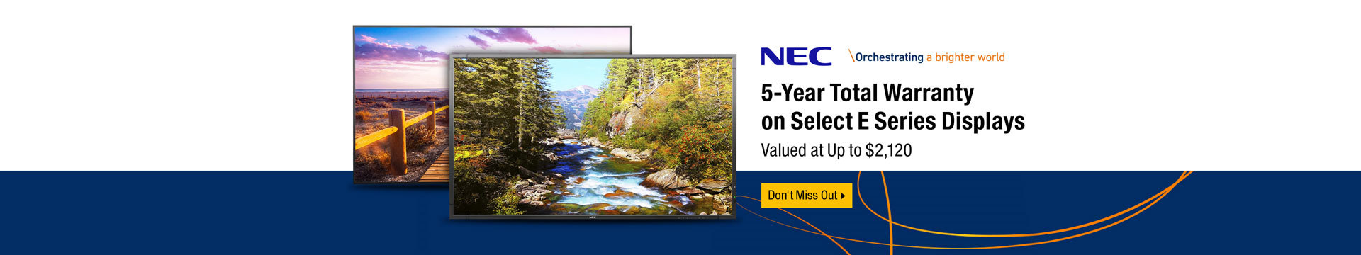 5-Year Total Warranty on Select E Series Displays