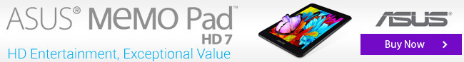 ASUS MEMO Pad HD7. HD Entertainment, Exceptional Value. Buy Now.