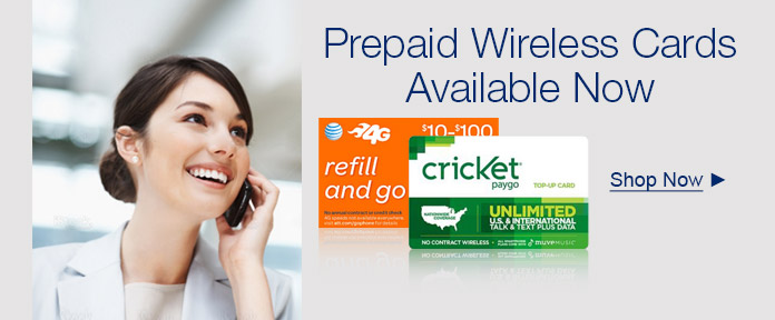 Prepaid Wireless Cards Available Now