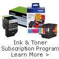 Ink&Toner Subscription Program Learn More