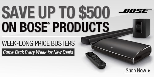 Save Up to $500 on Bose Products