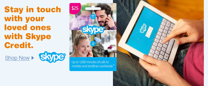 Stay in touch with your loved ones with SKYPE credit