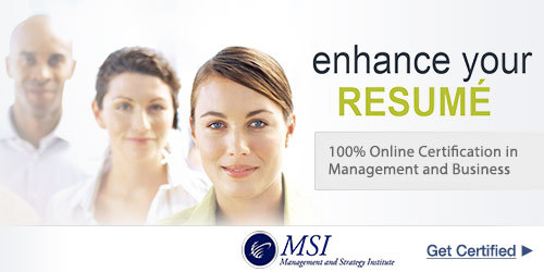 Enhance Your Resume - 100% Online Certification in Management and Business