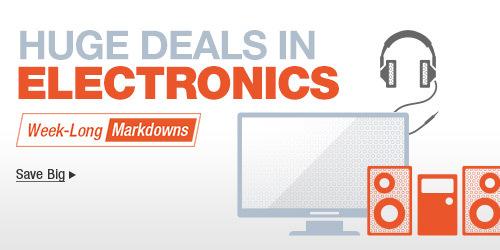 Huge deals in electronics save big