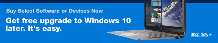 Buy Select Software or Devices Now, Get Free Upgrade to Windows 10 Later