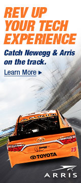 Catch Newegg & Arris on the track