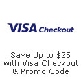Save up to $25 with Visa checkout & promo code