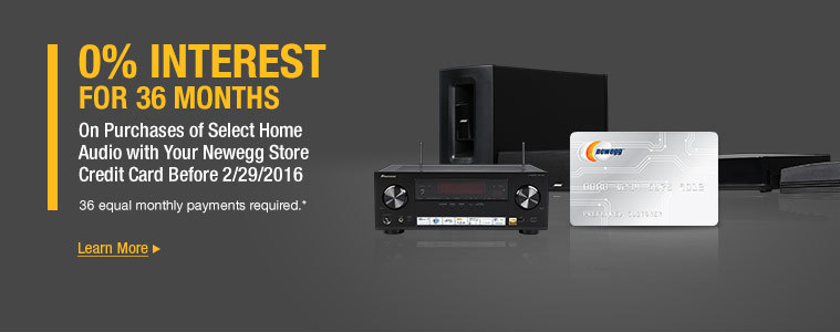 0% Interest for 36 Months on Select Home Audio