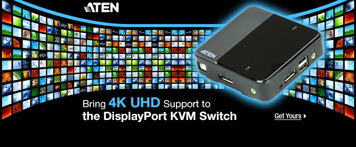 Bring 4K UHD Support to the DisplayPort KVM Switch