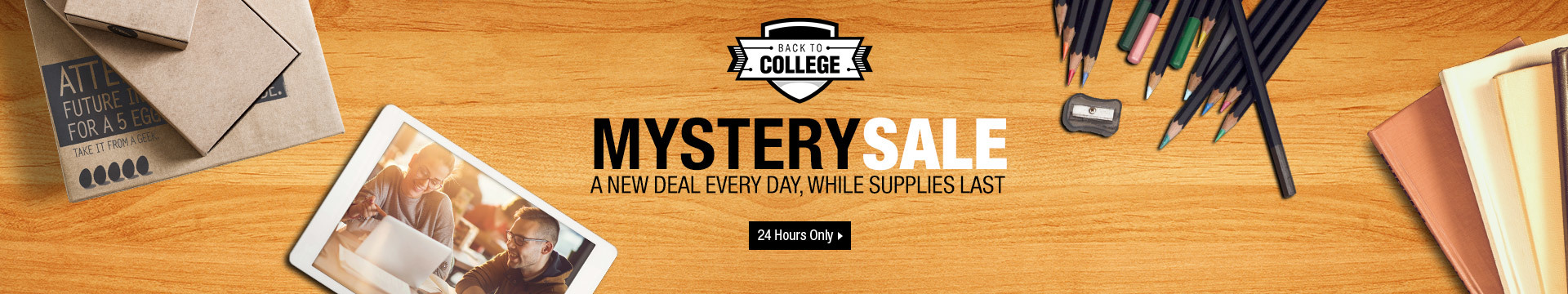 Back-to-College Mystery sale
