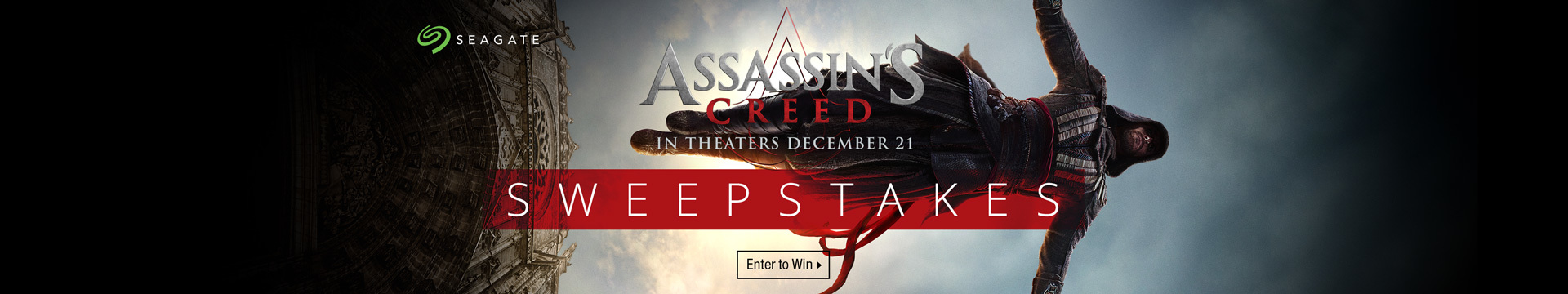 The Seagate Assassin's Creed Sweepstakes