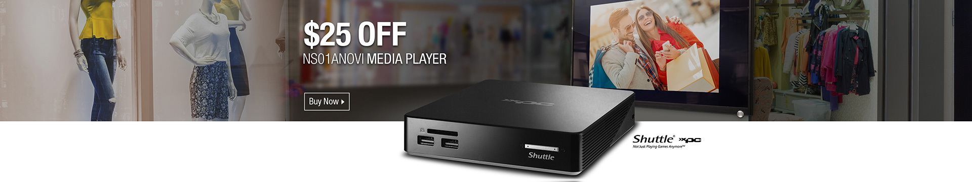 $25 OFF NS01ANOVI MEDIA PLAYER
