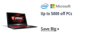 Up to $800 off PCs