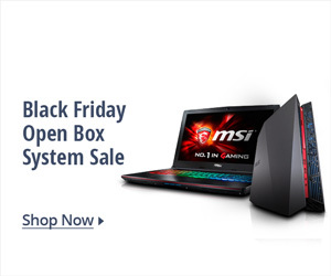 Black Friday Open Box System Sale
