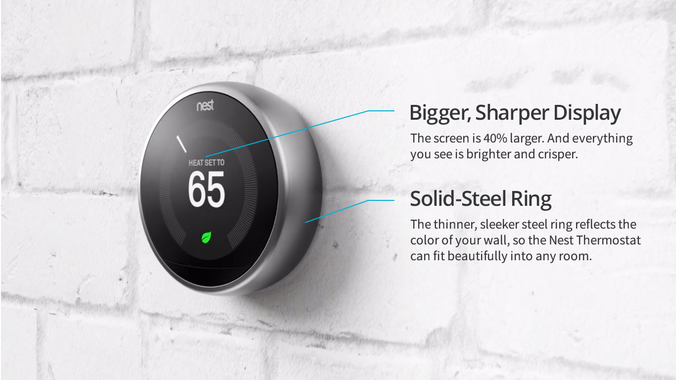Nest Thermostat Wiring Ring Explore Your Bigger Sharper Display And Solid Steel