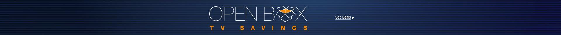 Open Box TV Savings