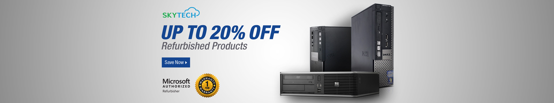 Up to 20% off Refurbished Products