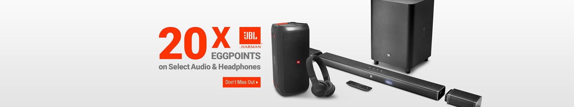 20x EGGPOINTS on Select Audio & Headphones