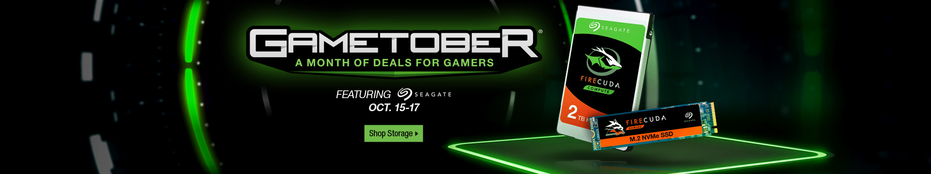 Gametober Featuring Seagate