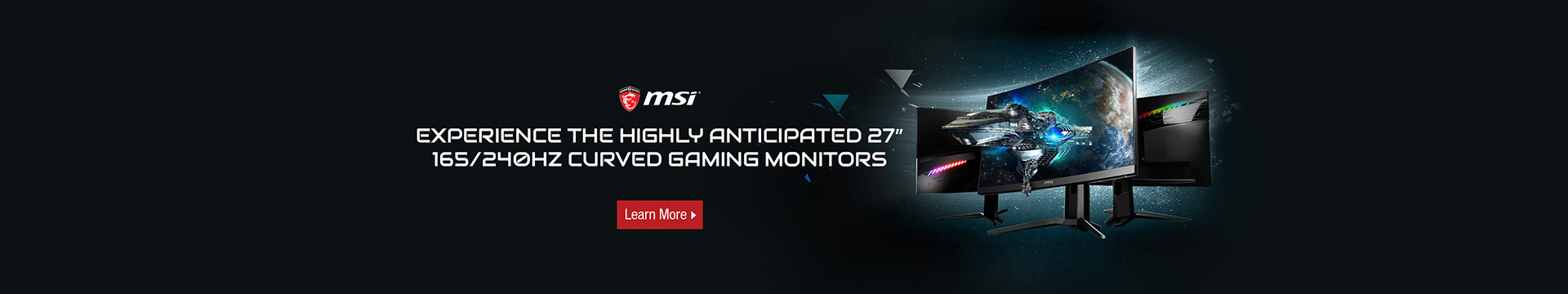 Experience the highly anticipated 27'' curved gaming monitors