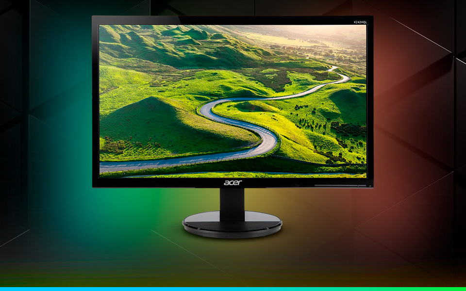 Acer K242HQL bid UM.UX2AA.001 23.6in Full HD 1920 x 1080 5 ms 60 Hz D-Sub, DVI, HDMI LED Backlit Widescreen LCD Monitor