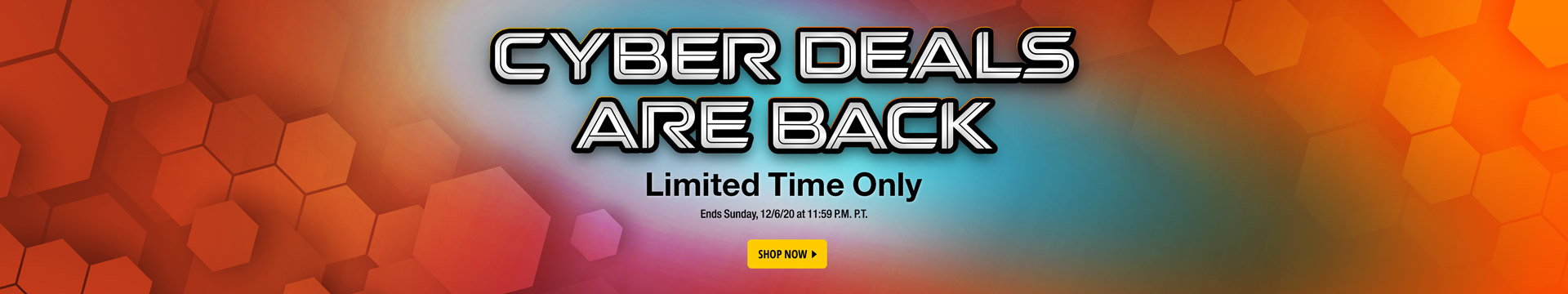 Cyber Deals Are Back