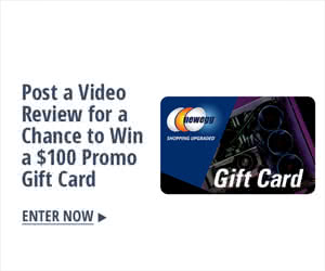 Post a video review for a chance to win a $100 promo gift card