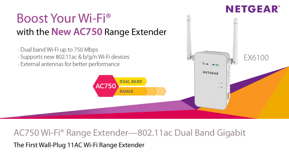 Netgear ac750 wi fi range extender boosts your existing wi fi and
