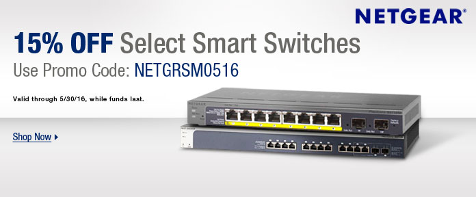 NETGEAR: 15% off select smart switches