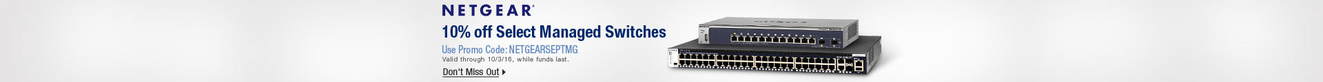 10% off select managed switches