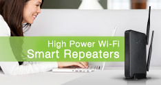 High Power Wi-Fi Range Extenders (Repeaters)