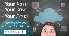 Your Router + Your Drive = Your Cloud