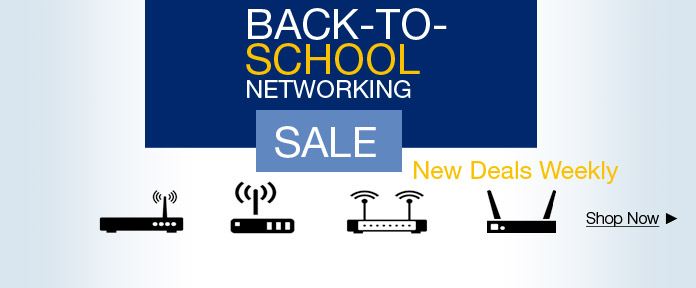 Back-to-school networking sale