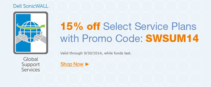 15% off select Service Plan with promo code