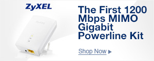 The First 1200 Mbps MIMO Gigabit Powerline Kit