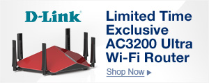 Limited time exclusive AC3200 ultra WI-FI router