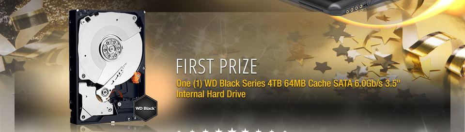 "First Prize One (1) WD Black Series 4TB 64MB Cache SATA 6.0Gb/s 3.5"" Internal Hard Drive"