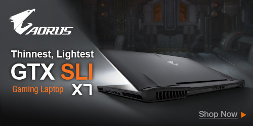 AORUS GTX SLI Gaming Laptop X7