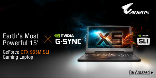 "Aorus Earth's Most Powerful 15"" GeForce GTX 965M SLI Gaming Laptop"