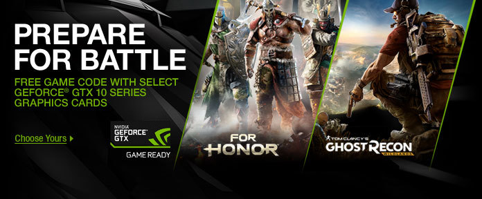 GTX 1070 and 1080 with For Honor or Ghost Recon