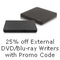 25% Off External DVD/Blu-ray Writers