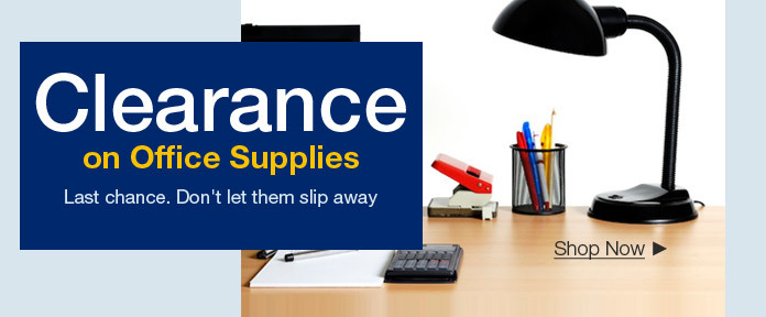 Clearance on Office Supplies