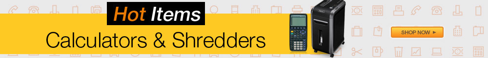 Hot Items calculators & shredders